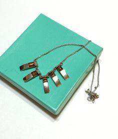 Sterling Silver Bib Necklace Modernist  by GracesVintageGarden