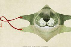 Surgical mask, by Yoriko Yoshida.