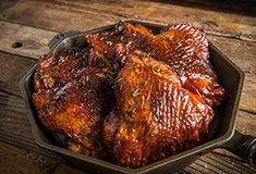 Looking for a ridiculously delicious recipe this These smoked turkey thighs with a homemade fig BBQ sauce by should do the trick ⠀ Recipe link in bio. Bbq Chicken Thighs, Chicken Thigh Recipes, Chicken Wings, Wing Recipes, New Recipes, Turkey Thighs, Turkey Breast, Grilled Turkey, Fast Dinners