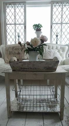 Vintage Shabby Chic Living Room.