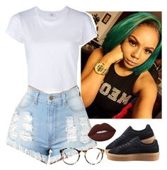 """"" by saucinonyou999 ❤ liked on Polyvore featuring RE/DONE, Puma, Lime Crime and Love"