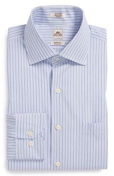 Peter+Millar+'Nanoluxe'+Regular+Fit+Stripe+Dress+Shirt+available+at+#Nordstrom