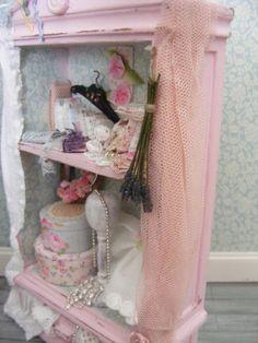 Dolls house shabby chic haberdashery cupboard by juliedeighton, $95.00