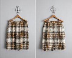 1950s vintage chunky wool plaid skirt by allencompany on Etsy, $45.00