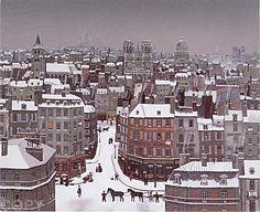 Michel Delacroix, Les Toits de Paris sous la Neige, 1991