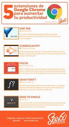 Infografía: 5 extensiones de Google Chrome para aumentar tu productividad http://sco.lt/...
