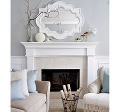 Tip: reflect the outdoor scenery into your living room with a mirror across from a window.