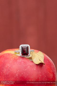 Ruby Diamond Ring from @Siebke Hoyt Jewelers  Jewelers in Cedar Rapids | Photo by Candid Contrast Photography | Bride Meets Wedding Vendors | Iowa, Illinois and Wisconsin Wedding Inspiration and Information #redwedding #weddingrings