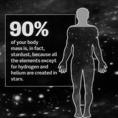 """The atoms of our bodies are traceable to stars that manufactured them in their cores and exploded these enriched ingredients across our Galaxy, billions of years ago. For this reason, we are biologically connected to every other living thing in the..."