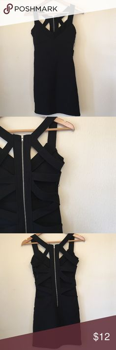 Sexy bodycon scrappy black dress Excellent condition! Dresses Mini