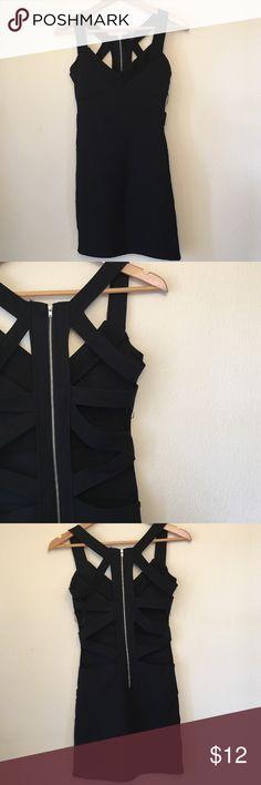 Sexy bodycon scrappy black dress Excellent condition! Dresses Mini