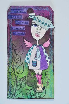 Dylusions Stamps and Tims Waterbrushes