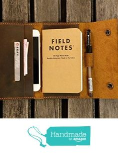 Leather travel journal wallet leather notebook wallet for pocket size field notes leather moleskine wallet cover iPhone 6 6s wallet FA605CDB from D&M Leather Studio