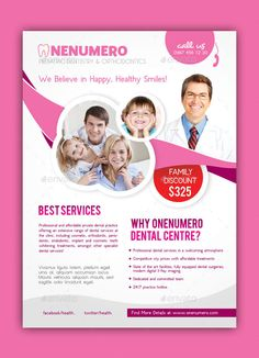 Orthodontist Dentist Brochure, Postcard and Flyer Designs | Dental ...