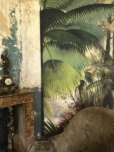 """Wallpaper for the soul / To keep away from the black hole / In my heart there's plenty of room / For everyone to kill the gloom"" - TAHITI 80 - 3d Interior Design, Exterior Design, Interior And Exterior, Of Wallpaper, Designer Wallpaper, Wallpaper World, Living Colors, Jungle Pattern, Wall Murals"