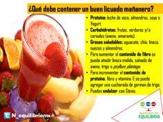 El balance perfecto para un desayuno rápido y saludable!   #licuado #healthy #shake #dieta