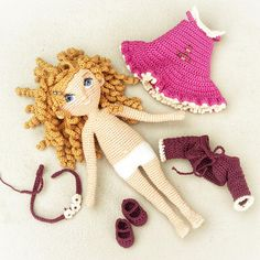 Abigail Crochet Amigurumi Doll Pattern PDF download