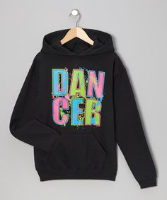 This Black Neon 'Dancer' Hoodie - Girls & Women by Dance World Bazaar is perfect! #zulilyfinds