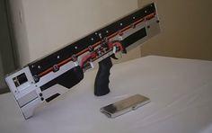Full-auto homemade gauss rifle.