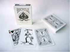 AmazonSmile: Bicycle Ghost Playing Cards by Ellusionist - White - Thick Stock: Toys & Games