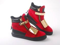 Giuseppe Zanotti red gold via Luxury store. Click on the image to see more!