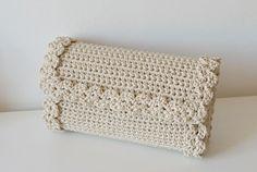 (4) Name: 'Crocheting : Crochet Lace Pochette Bag