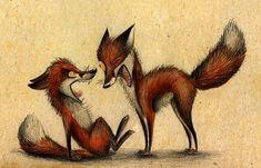 Забавные лисички от Skia