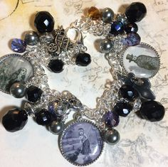 Les Miserable charms womens jewelry altered art by Bostoncharm