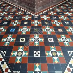 Colours  Olde English Tiles - Beautiful Verandah Heritage Tessellated Tiles. Love these Victorian Geometric tiles in this heritage house