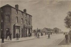 S.Panter Brick Liscard Road, Westminster road to the left c1895. St Marys Boy School in the distance, later to become Max Spielmans (opposite the ambulance station). Buildings on the left knocked down for road widening.