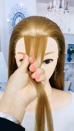 Braids For Long Hair, Bun Hairstyles For Long Hair, Girl Hairstyles, Girl Hair Dos, Hair Girls, Front Hair Styles, Medium Hair Styles, Hair Style Vedio, Hair Tutorials For Medium Hair