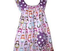 Girls Peasant Style Dress Matryoshka Doll by SouthernSeamsKids, $32.00