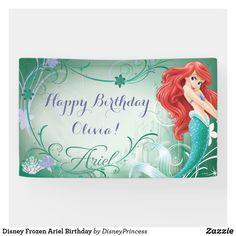 Happy Birthday Disney, Happy Birthday Olivia, Disney Princess Birthday, Mermaid Birthday, Birthday Fun, Birthday Banners, Birthday Gifts, Mermaid Invitations, Birthday Invitations