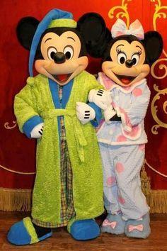Mickey & Minnie in PJ's