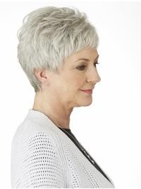 Comfortable Short Straight 4 Grey Wigs Grey Wigs For Black Women Short Curly Hair Updo, Short Punk Hair, Short Human Hair Wigs, Short Grey Hair, Short Straight Hair, Short Hair Cuts, Curly Hair Styles, Natural Hair Styles, Pixie Styles