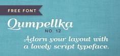 Free font: Qumpellka No. 12 | How About Orange