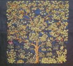 Tree of life William Morris cross stitch