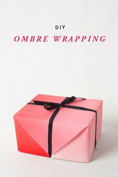 Make Ombre Gift Wrap For Valentines Day