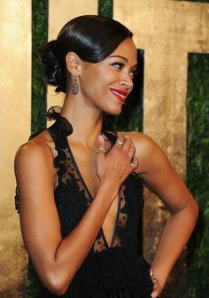 Zoe Saldana 2013 Vanity Fair Oscar Party