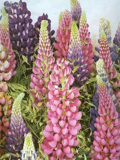 Arranjo de flores (lilas)