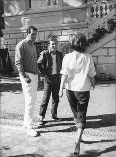 "Rock Hudson, Bobby Darin and Gina Lollobrigida between the takes of ""Come September"", 1963"