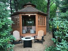 Gazebo in the woods? Whatever you have in mind, Summerwood can help create your ideal vision. So, a San Cristobal gazebo in the woods indeed… Gazebo Plans, Spring Valley, Yard Design, Building Plans, Woods, Outdoor Structures, Patio, How To Plan, Canning