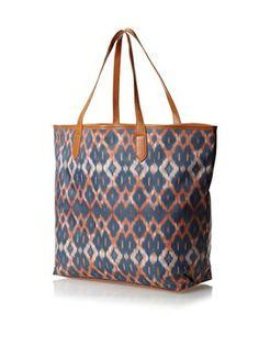 Urban Originals Women's Ballina Print Tote Bag, Orange Batik