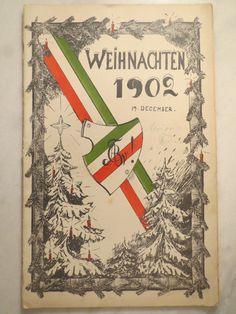 Guben ABC Weihnachten 1902 Bierzeitung Studentika | eBay