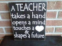 Teacher wooden sign by dressingroom5 on Etsy