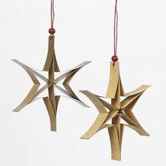Stjerne af smalle papirstrimler
