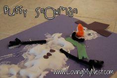 Puffy Snowman Craft