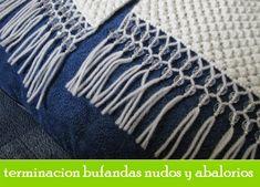 Patrones Crochet: Terminacion prendas flecos con abalorios