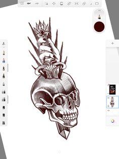 Skull Sketch, Art, I Don't Care, Art Background, Kunst, Performing Arts, Art Education Resources, Artworks