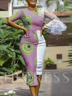Geometric Print Color Block Lace Women's Maxi Dress